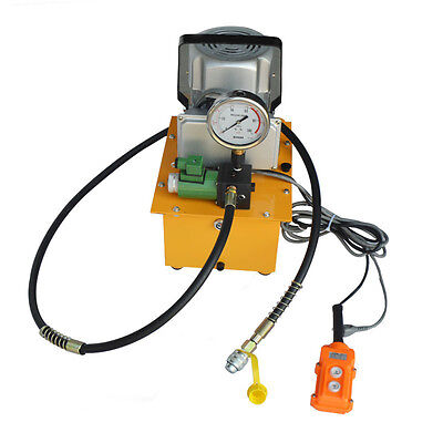 110v New Single Acting Remote Control Valve Electric Hydraulic Pump 10000 Psi