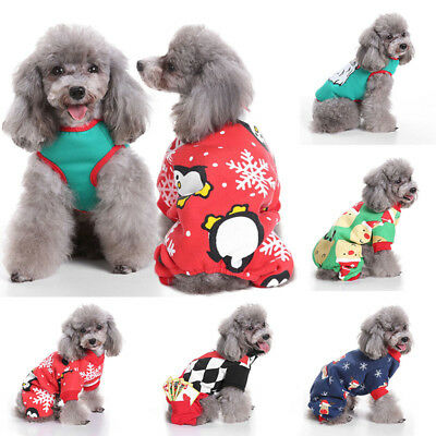 Pet Dog Cat Puppy Christmas Santa Shirt Clothes Costume Warm Jacket Coat Apparel - Cat Santa Costume