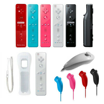 Remote Wiimote + Nunchuck Controller Set Combo for Nintendo Wii U Games 5 COLOR
