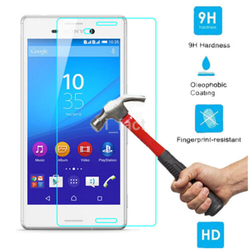 1Pc 9H Clear Tempered Glass Screen Protector Film Skin For Sony Xperia M4 Aqua