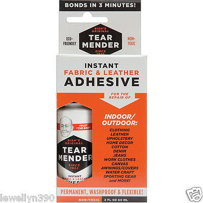 TEAR MENDER Fabric & Leather Adhesive 2oz. #TM-1   NEW for sale  Shipping to India