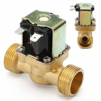 New 34 Inch Npsm 12v Dc Slim Brass Electric Solenoid Valve Gas Water Air N S4w2