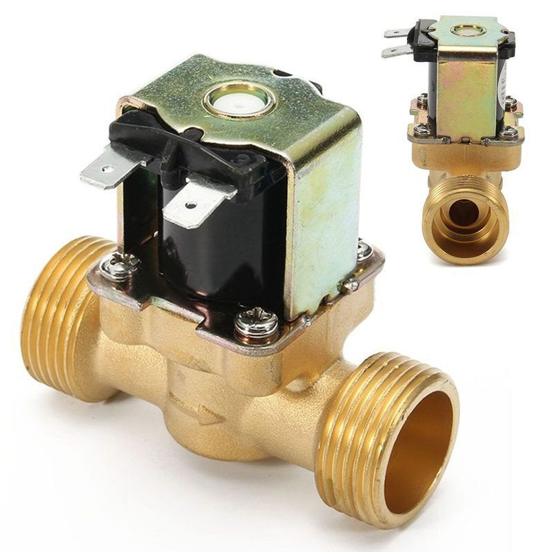 New 3/4 INCH NPSM 12V DC Slim Brass Electric Solenoid Valve Gas Water Air N S4W2