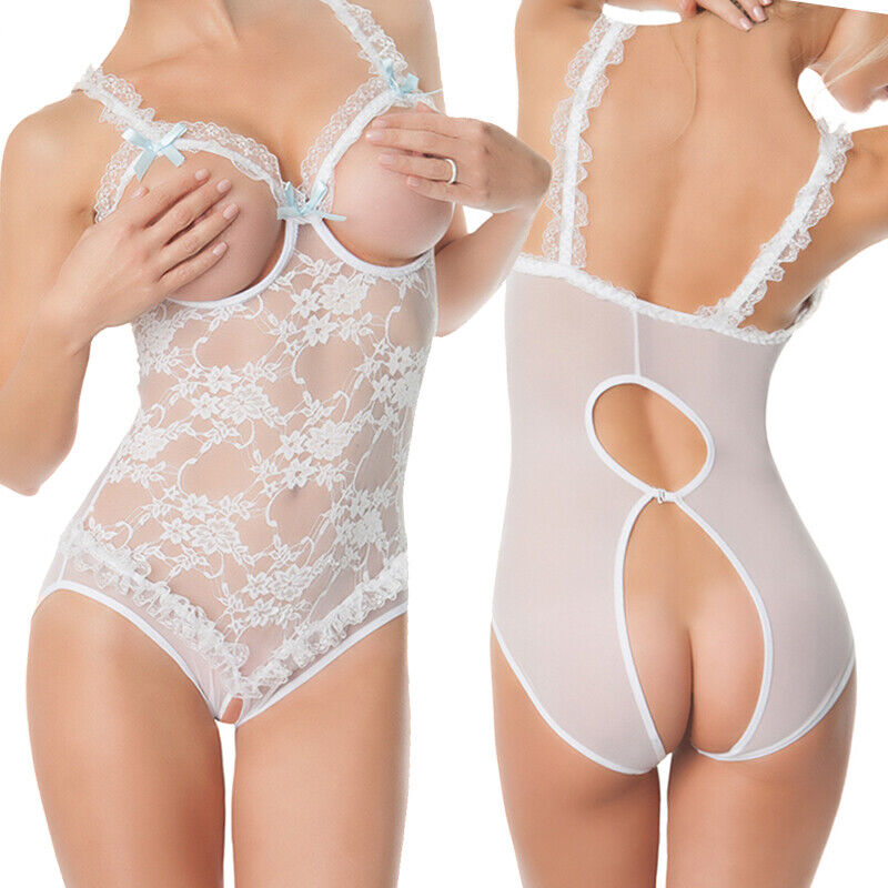Plus size Sexy Lingerie Sleepwear Lace Womens Mesh One Piece Babysuit Nightwear Clothing, Shoes & Accessories