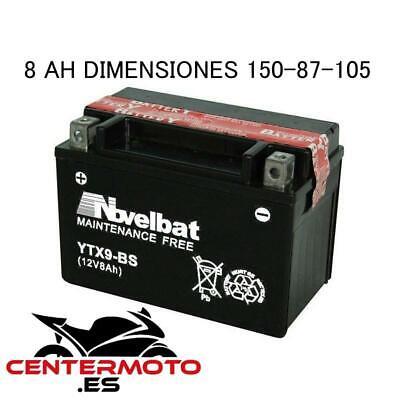 NOVELBAT BATERIA YTX9-BS 12v 8 AH moto ytx9bs ptx9bs dtx9bs btx9bs ¡24h!