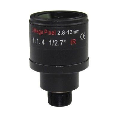 12 Mm Fixed Iris (3MP Fixed Iris M12 HD 2.8-12mm Varifocal Cctv IR HD Lens,F1.4,manual Focus Zoom )