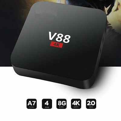 V88 4 K Android 5.1 Smart TV Box Rockchip 3229 1G/8G 4 USB 4 K 2 K WiFi