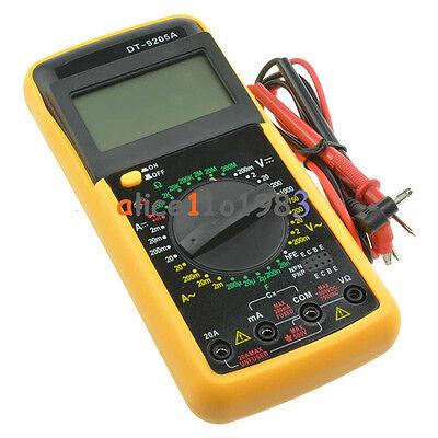 Digital Dt9205a Multimeter Lcd Acdc Ammeter Resistance Capacitance Tester