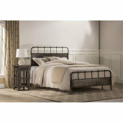 Grayson Panel - Hillsdale Grayson Queen Panel Bed in Rubbed Black