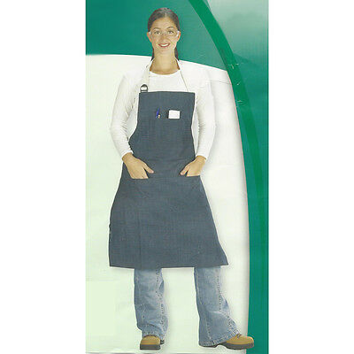 5 Pocket Denim Bib Apron Work Shop Industrial Crafts Sewing School Cooking Class