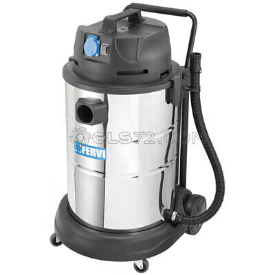 INDUSTRIAL WET DRY VACUUM CLEANER 230V 60L WITH ACCESSORIES FERVI A040/60A, used for sale  Italy