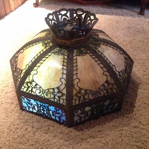 Antique Empire Lamp Co. Slag Glass ceiling light