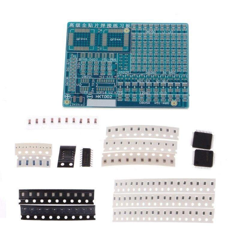 SMT Components SMD Soldering Practice Board Plate DIY Kit Resistor For Beginners