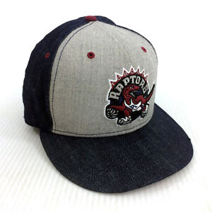 Toronto Raptors Hat New Era 59Fifty Denim Fitted Cap 7 3/8 NBA