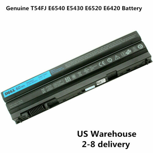 Genuine 60Wh T54FJ Battery Dell Latitude E5420 E6420 E6520 PRRRF M5Y0X NHXVW NEW