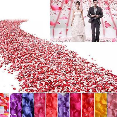 300~1000pcs Artificial Silk Rose Flower Petals Wedding Party Confett Petal - Artificial Rose Petals