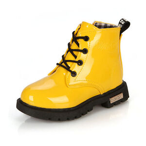 2015 Hot Baby Kids Girls Boys Toddler Martin Waterproof Boots Shoes Cotton Plus