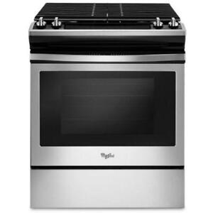 Self-Cleaning Slide-In Gas Range|Ranges WEG515S0FS Front Control Gas Range with cast-iron grates (BD-955)