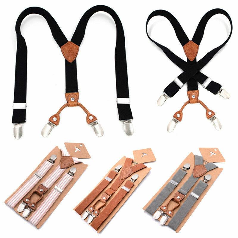Children Trouser Clip On Suspenders Elastic Y-shape / X-back Adjustable Braces