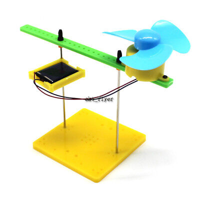 Solar Power Physical Handmade Fan Toys Kits DIY Children's Science Puzzle