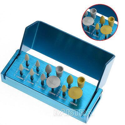 Dental Polishing Diamond Polishers For Zirconia Burs Cups Set Ra 3112 12pcskit