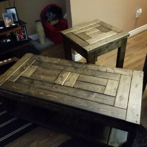 Custom made end tables/coffee tables