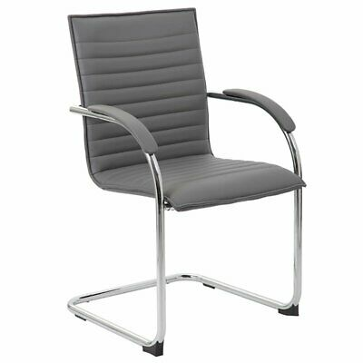 Boss Office Faux Leather Office Chair in Gray