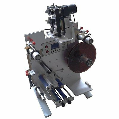 220v Automatic Round Bottle Labeler Labeling Machine With Coding Function Sl-130