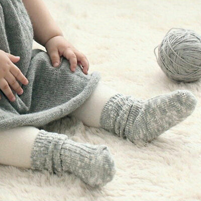 Cute Kid Baby Boy Girl Socks Toddler Knitting Warm Thick Non-slip Floor Socks US ()