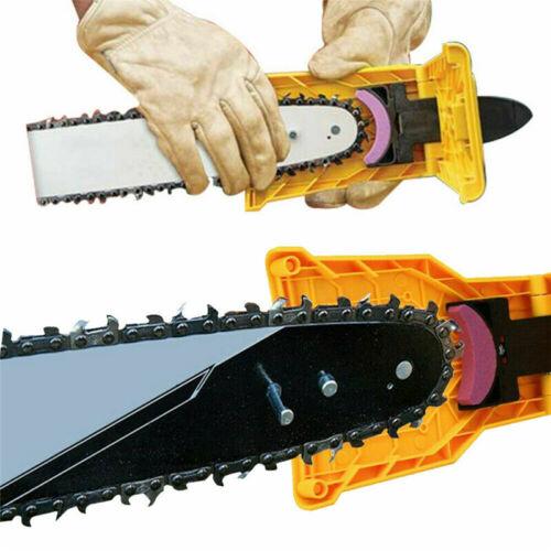 3pc Stone Grinder Sharpening Grinding Chains Yellow Chainsaw Teeth Sharpener