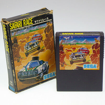 SAFARI RACE SEGA SC-3000 Japan Import SG-1000 markIII Boxed look somewhat used !