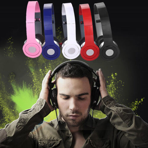 Teens Kids Childs Foldable DJ Headphones 3.5mm Wired Game Ea