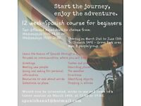 12 week Spanish course for beginners, starting on March 21st. Small groups (Max. 8 people)
