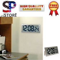 New DIGITAL LCD Display Large Decorative Wall Clock For Living Kitchen Bedrooms