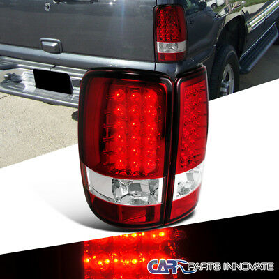 00-06 Chevy Tahoe Suburban GMC Yukon Denali LED Tail Lights Rear Brake Lamps Red