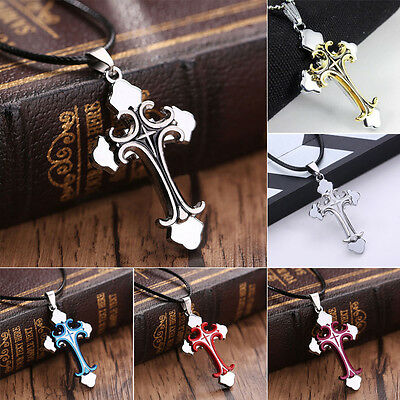 Fashionable Charm Unisex's Stainless Steel Cross Necklace Pendant Chain Jewelry