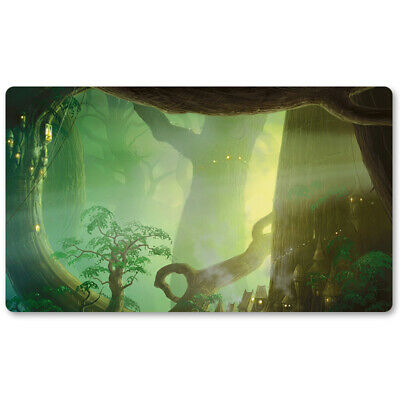 FOREST - Board Game MTG Playmat Games Table Mats Play Mat of TCG Free Gift Bag ()