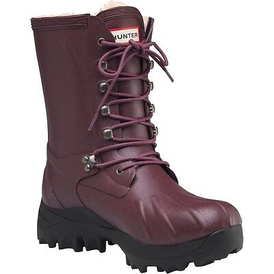 RRP £240 Hunter Womens Pac Boots Burgundy winter boots size 3 3 Pac Boots