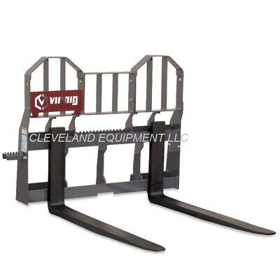 48 Virnig Walk-thru Pallet Forks Frame Attachment Caterpillar Cat Skid Steer