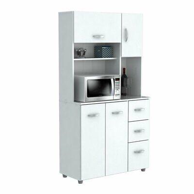 Inval White Kitchen Storage Cabinet