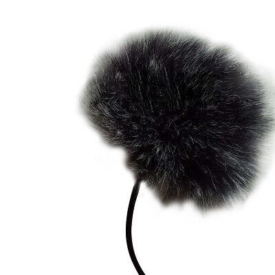 Black Fur Windscreen Windshield Wind Muff For Lapel Lavalier Microphone Mic