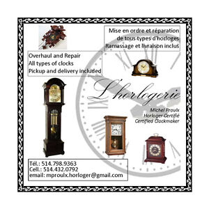 Certified Clockmaker - Home Service West Island Greater Montréal image 1