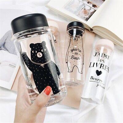 Portable Bear Water Bottles Leakproof Outdoor Travel Sport Tea Juice Water Cup](Clear Plastic Water Bottles)