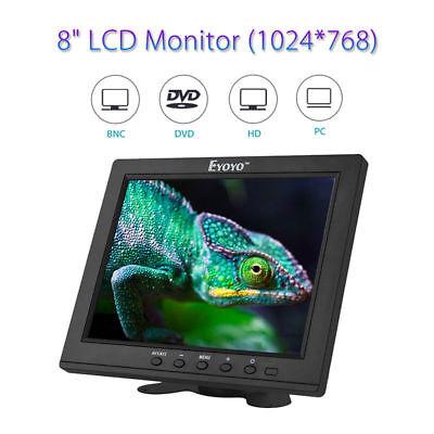 "8"" TFT LCD 1024*768P HD DSLR Camera Monitor VGA BNC Video Au"