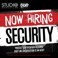 Now Hiring Security | Studio 107 Dance Club / BLVD Nightlife