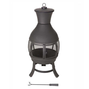 Outdoor fire pit/chimney
