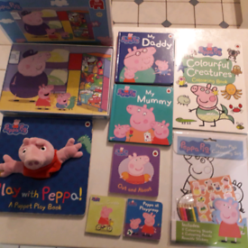 Peppa pig jigsaw, activity and book collection