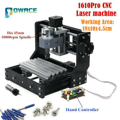 Cnc 3 Axis 1610 Pro Grbl Diy Mini Pcb Wood Milling Laser Engraver Router Machine