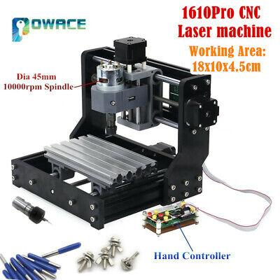 Cnc 3 Axis 1610 Pro Grbl Diy Mini Pcb Wood Milling Laser Engraver Router Machine
