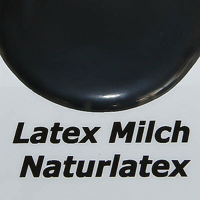 Flüssiglatex Dickflüssig Ammoniakfrei  250ml  Schwarz Latexmilch 1L=33,96€